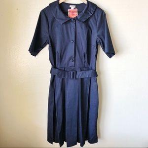 Isaac Mizrahi | Navy Retro Dress